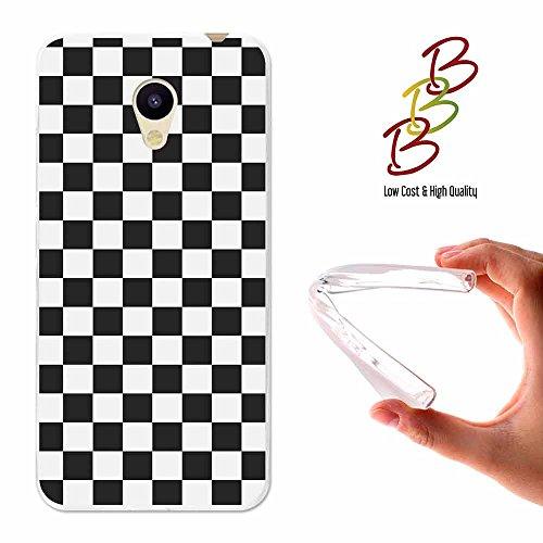 Funda gel para Meizu M5C - A5, Carcasa TPU Flexible fabricada con la mejor Silicona, protege y se adapta a la perfección a tu Smartphone y con nuestro exclusivo diseño 3B® - Tablero de ajedrez.