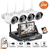 SW 720P WIFI NVR Security Camera System with 4 Wireless Outdoor 720P HD IP CCTV Camera with 48 LEDs Night vision Support Smartphone Remote view WIFI