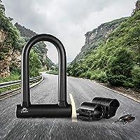 Lixada Bike Anti Theft Steel U Lock Heavy Duty Bicycle Combination Shackle with Mounting Bracket