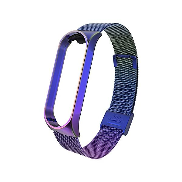 BDIG Correa Compatible Xiaomi Mi Band 4 Correas Metal,Pulsera de Acero Inoxidable Agradable para Mi Band 4 Correa (No Host) 2