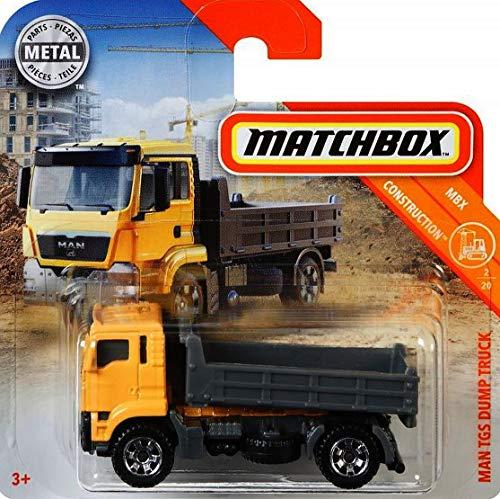 Matchbox* Man TGS Dump Truck - 1:64 - Farbe: gelb/grau - Baustelle Matchbox