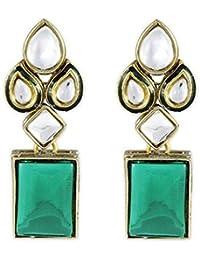 Karatcart Metal Crystal Modish Kundan Dangle & Drop Earrings For Women