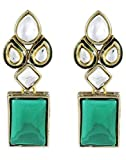 karatcart Green Modish Kundan Dangle & D...