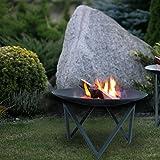 Design-Feuerschale / Feuerkorb LAVA, aus Metall H 34 cm - (05.020.635)