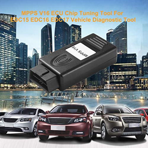 sdfghzsedfgsdfg MPPS V16 ECU Chip Tuning-Tool für EDC15 EDC16 EDC17 Checksum SMPS MPPS 16 CAN Flasher Neuzuordnung Seil Fahrzeug-Diagnosewerkzeug schwarz