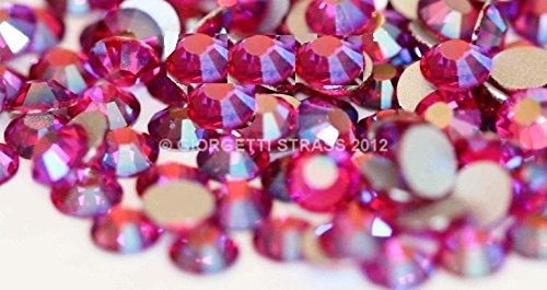 STRASS MC Stone collection 100pz SS20 5mm Rose Rosa AB aurora boreale hot fix adesivi - Hot Fix Gioielli
