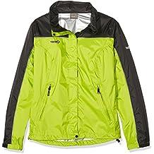 Izas Annapurna - Chaqueta de lluvia para mujer, color verde claro / negro