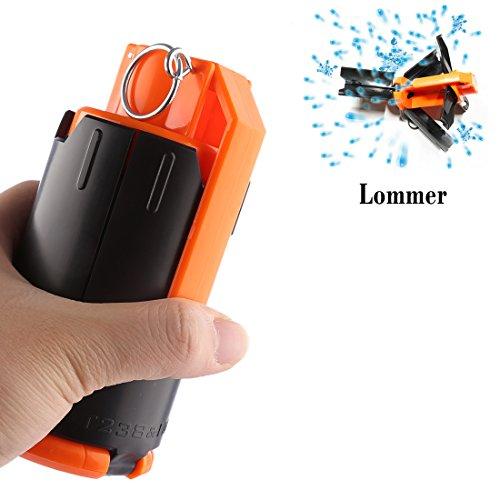 Lommer Wasserkugeln Bombe Water Bomb Modifiziertes Spielzeug Wasser Granate für CS und Nerf Spiele (Schwarz, Orange)