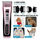 Rision 3 Speed Professional Pet Grooming Clipper Kit Low Noise Rechargeable Cordless Dog Hair Trimming Clippers Set for Dogs Cats and Other Animals Rision 3 Speed Professional Pet Grooming Clipper Kit Low Noise Rechargeable Cordless Dog Hair Trimming Clippers Set for Dogs Cats and Other Animals 51Nm6X6b9OL