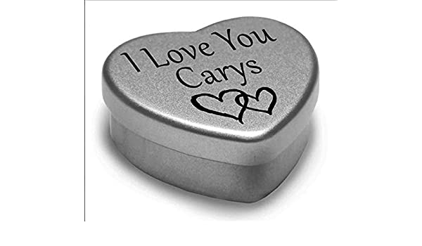I Love You Carys Mini Heart Tin Gift For I Heart Carys With Chocolates
