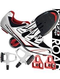 Zapatos y pedales Venzo para bicicleta de carretera Shimano SPD SL, 40