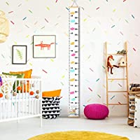 Height Chart for Kids,Growth Wall Chart,Kids Growth Chart for Kids Bedroom Nursery Wall Decorations,with 1 Hook