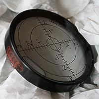 Dosenlibelle - Große Metall-Wasserwaage mit Luftblase (NEU), 60 mm Durchmesser, Gradangabe, Boden-Wasserwaage – Metallgehäuse, Bullseye