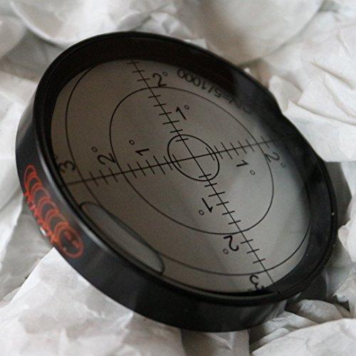 Dosenlibelle - Große Metall-Wasserwaage mit Luftblase (NEU), 60 mm Durchmesser, Gradangabe, Boden-Wasserwaage - Metallgehäuse, Bullseye