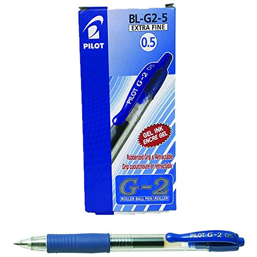 Pilot G205 Druck-Gelschreiber mit Gummi-Griffzone 0,5 mm Schreibspitze 0,3 mm Strichbreite 12 Stück blau