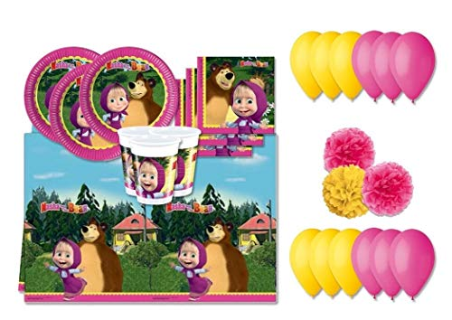 DECORATA PARTY Kit N.49F Compleanno Masha E Orso