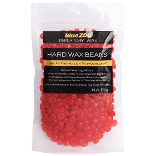 cebbay keine Streifen Haarentfernung Haarentfernung Hard Wax brasilianisches Granulat Waxing Bikini Haarentfernung Bean (3,5Unze/100g), Wachs, rot, 100g (Haut Bikini Zweite)
