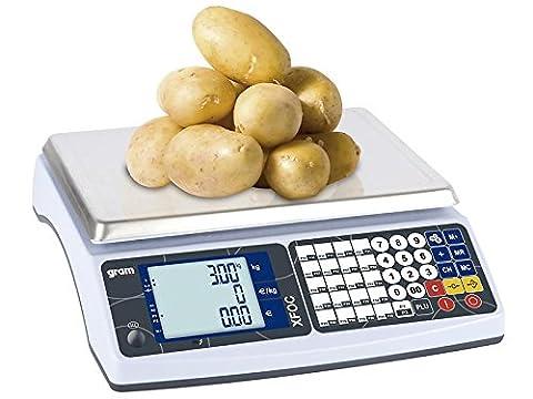 Balance poids-prix idéale sur les marchés et pour la vente ambulante 15/30kg lecture 5/10g