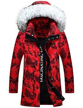 MHGAO Invierno Nuevo estilo de lana larga Padded Collar Capa Caliente , red , s