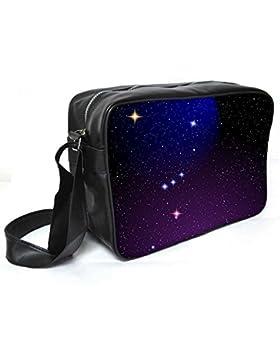 Snoogg Orion Nebel Leder Unisex Messenger Bag für College Schule täglichen Gebrauch Tasche Material PU