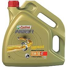 Castrol Power 1 Aceite de Motores 15W-50 4T 4L (Sello inglés)