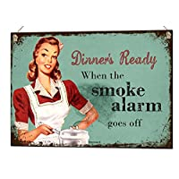 Beenanas Dinners Ready. Funny Metal Sign Unique Vintage Kitchen Tin Plaque Gift