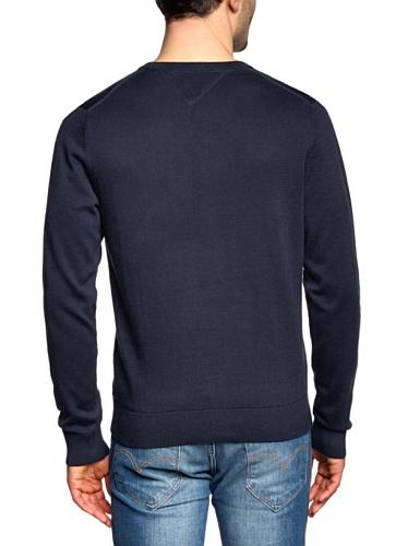 Tommy Hilfiger Herren Poloshirt Pacific V-Nk Blau 403