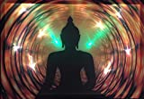 LED-Bild mit Beleuchtung LED- Bilder Leinwandbild 65 x 45 cm Leuchtbild BUDDHA Wandbild Samarkand-Lights