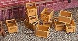 Pola 333208 - 10 Kisten leer, Zubehör für die Modelleisenbahn, Modellbau
