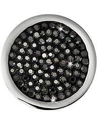 Adamello señorías divebox para coin montura circonios negro 25 mm de acero inoxidable ESC350S