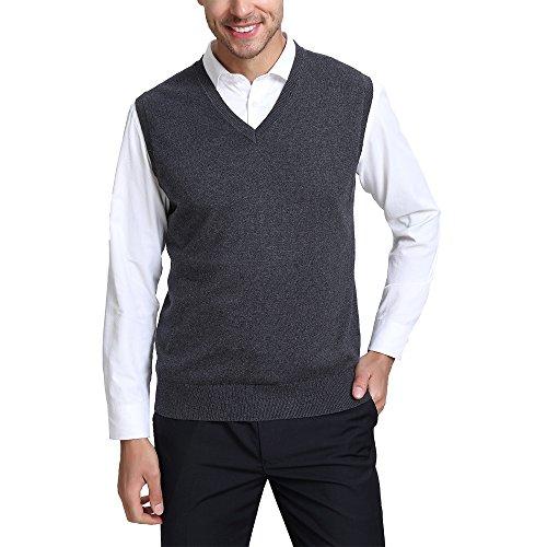 Cashmere Knit Weste (Kallspin Herren herren kaschmir-wolle-mischung relax fit weste knit v-neck sweater xx-large navy blau)
