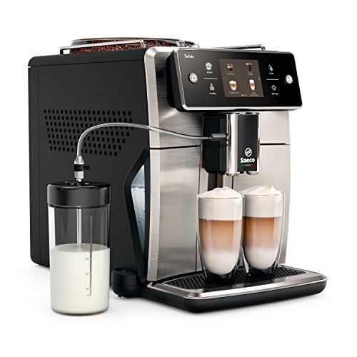 Saeco Xelsis SM7685/00 - Macchina da caffè automatica schermo touch 28,3 x 48,9 x 39,3 cm Edelstahl/Schwarz
