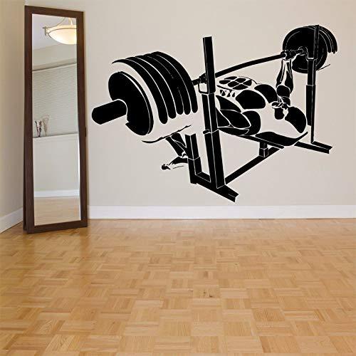 jiuyaomai Bodybuilder Gym Abnehmbare Tapete Home Fitness Hintergrund Aufkleber Wandaufkleber Für Sportraum Vinyl Art Decor Poster schwarz 79X56 cm