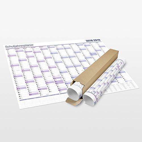 XXL Lehrerkalender Schuljahres-Planer 2018 2019. Der Wand Schulkalender für Lehrer, Schüler und die ganze Familie im Kalender Maxi Format (70 x 100 cm). Gerollt geliefert.