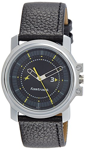 Fastrack Analog Black Dial Men's Watch-3039SL02