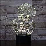 3D Nachtlicht Tweety Vogel Tischlampe Schlafzimmer Touch Sensor Dekoration Kind Kinder Geschenk Cartoon Action Figure Tweety Vogel Led Nachtlicht