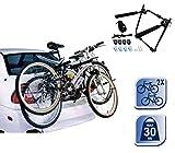 Portabicicletta auto supporto per trasporto 2 bici portata da 30 kg per portabagagli 72538. MEDIA WAVE store ®