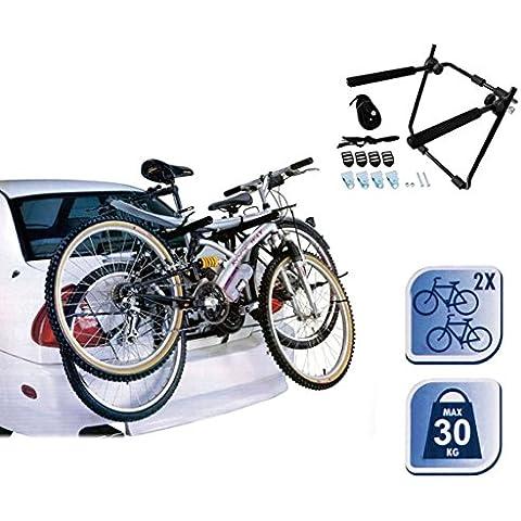 Portabicicletas - Soporte de bicicletas para maletero de coche (2 bicicletas) 72538 mws2059