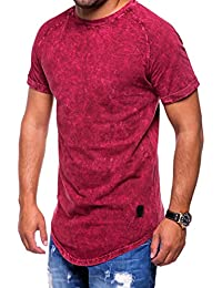 MT Styles Oversize T-Shirt style washed manches courtes C-9013