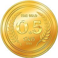A Himanshu 0.5 gm, 24k (999) Yellow Gold Precious Coin