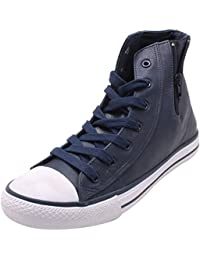 Roadster Men's Blue And White Leather High Top Shoes - B06XYP77MN