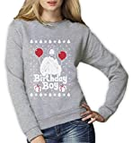 Jesus Christus Birthday Boy Witziges Weihnachten Design Frauen Sweatshirt Small Grau