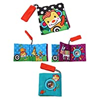 Challen Fabric Baby Soft Cloth Books Toys, Early Development & Activity Toys,Infant/Toddler Tails Cloth Books Toy, Crinkle Non-Toxic Soft Baby