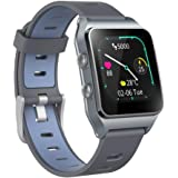 GPS Smartwatch with 17 Sports Modes Activity Tracker IP68 Waterproof Swimming Touch Screen Watches, Heart Rate Sleep Trackers with Pedometer Step Calories Counter for Women Men (Dark blue)