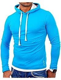 Reslad Herren Kapuzenpullover Sweatshirt Detroit Hoodie RS-1003