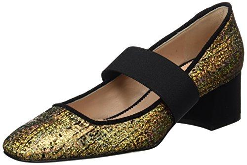 Hannibal Laguna Dagma, Zapatos de Tacón Mujer, Multicolor (Ante Vison/Mostaza), 37 EU Hannibal Laguna