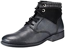 Alberto Torresi Mens Black Leather Boots - 6 UK