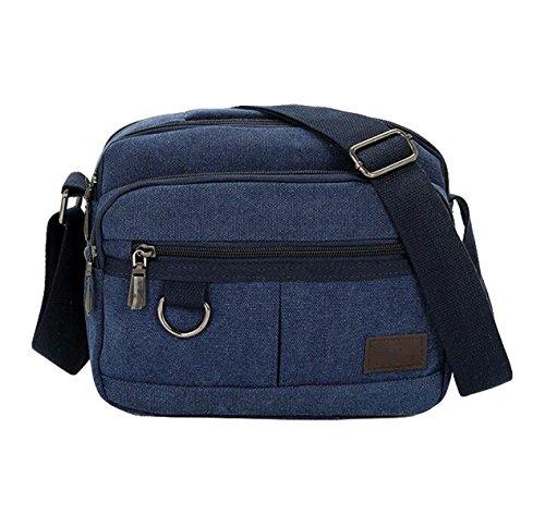 Mann-Segeltuchbeutel-Schulterbeutel-Diagonalpaket Multifunktionale Im Freienfreizeitbeutel Blue