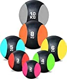 RUBBER MEDICINE BALL WEIGHTS EXERCISE FITNESS MMA BOXING TRAINING By TNP Accessories