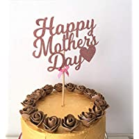 Happy Mother's Day Glitter Cake Topper. Mother's Day Cake Centrepiece. Bouquet Flower Centrepiece Decoration
